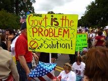 Signe coloré de protestation Photos stock