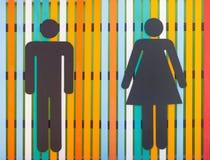 Signe coloré de toilettes Photos libres de droits