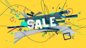 Signe coloré de vente illustration libre de droits