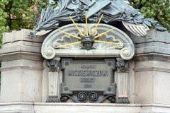 signe commémoratif à Adam Mickiewicz images libres de droits