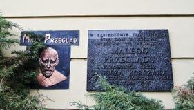 Signe commémoratif de Janusza Korczaka - 6 juillet 2015 - Varsovie, Pologne Photos libres de droits