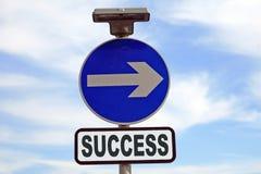Signe conceptuel de réussite dans les affaires et la durée Image libre de droits