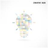 Signe créatif coloré d'ampoule Image stock