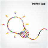 Signe créatif d'ampoule Photos stock