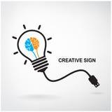 Signe créatif d'ampoule Photographie stock