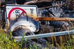 Signe détruit Image libre de droits