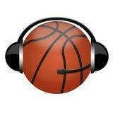 signe d'écouteur de basket-ball illustration stock