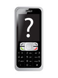 signe d'écran de la requête s de téléphone portable Image libre de droits