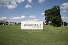Signe d'église de Highpoint, Germantown, TN Photos stock