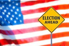 Signe d'élection en avant Photographie stock libre de droits