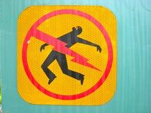 Signe d'électrocution de danger Image libre de droits