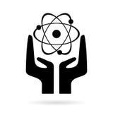 Signe d'énergie atomique illustration stock