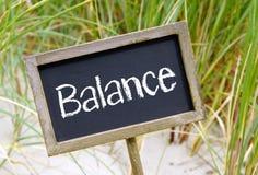 Signe d'équilibre photo stock