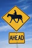 Signe d'équitation de Horseback images libres de droits