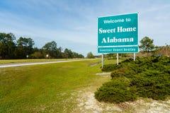 Signe d'état de l'Alabama Image libre de droits