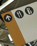 Signe d'aéroport Photos libres de droits