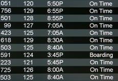 Signe d'aéroport de Digitals Photographie stock
