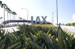 Signe d'aéroport de LAX Image stock