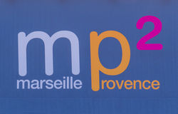 Signe d'aéroport de Marseille Provence Image libre de droits
