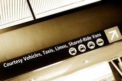 Signe d'aéroport de Seatac Photo stock