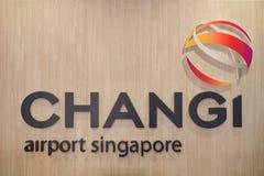 Signe d'aéroport de Singapour Changi Image stock