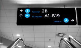 Signe d'aéroport de terminaux à Budapest Photographie stock