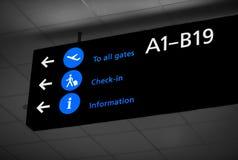 Signe d'aéroport de terminaux à Budapest Images stock