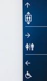 Signe d'aéroport ou de construction Image libre de droits