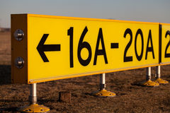 Signe d'aéroport - position de stationnement Photo libre de droits