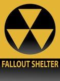 Signe d'abri contre les retombées radioactives Image libre de droits