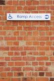 Signe d'accès de rampe image stock