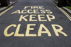 Signe d'Access du feu image libre de droits
