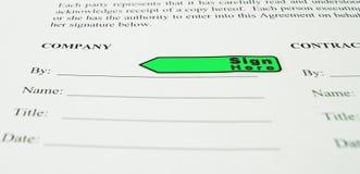 Signe d'affaires la ligne pointillée Photographie stock libre de droits