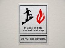 Signe d'alarme d'incendie Photographie stock