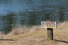 Signe d'alligators Photos libres de droits