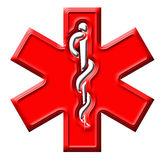 Signe d'ambulance illustration stock