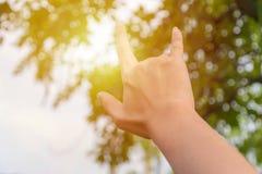 Signe d'amour à la main Images libres de droits