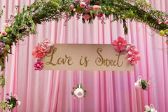 Signe d'amour Photo libre de droits