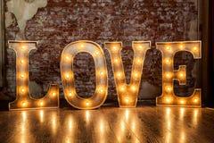 Signe d'amour lumineux Photos libres de droits