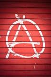 Signe d'anarchie Image libre de droits
