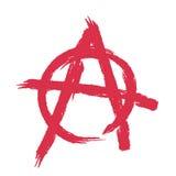 Signe d'anarchie d'isolement La brosse frotte le style grunge Illustration de Vecteur