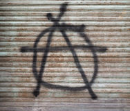 signe d'anarchie peint Images stock