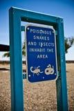 Signe d'animal de poison Photo libre de droits