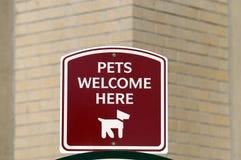 Signe d'animal familier Photo libre de droits