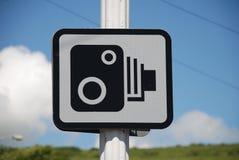 Signe d'appareil-photo de vitesse, Folkestone Image libre de droits