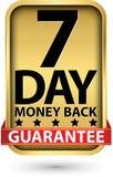 signe d'or d'argent de garantie de sept jours de dos, illustration de vecteur illustration stock