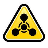 Signe d'arme chimique Image libre de droits