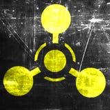 Signe d'arme chimique Images libres de droits