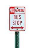 Signe d'arrêt de bus Photo libre de droits