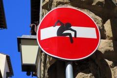Signe d'arrêt de l'Europe avec le graffiti Images stock